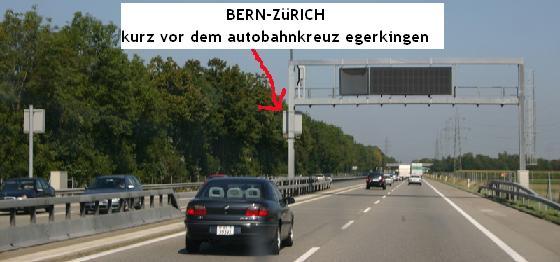 Radar zwischen Bern-Zürich