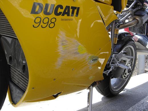 Kürzerer Ausflug als geplant wegen Ducati Unfall