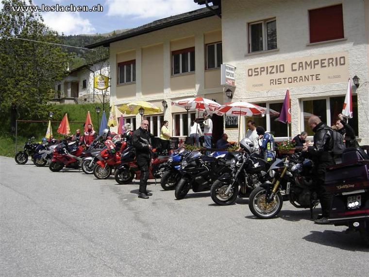 Auffahrt mit Grillplausch in Ilanz am 25.05.2006