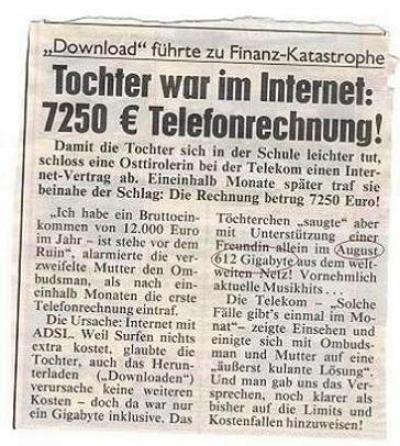 Teure Telefonrechnung