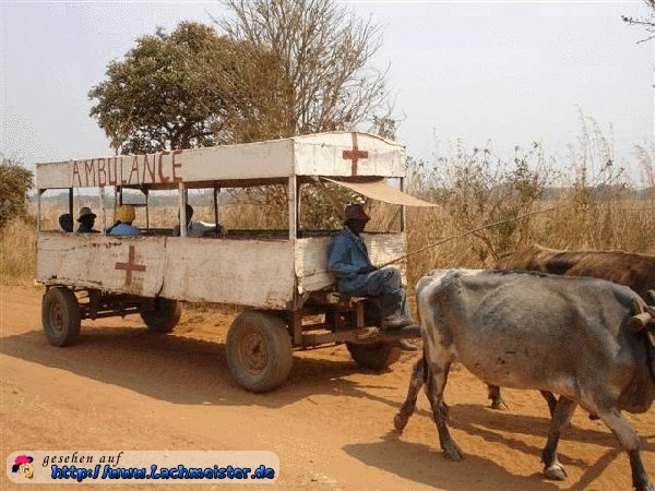 Krankenwagen in Afrika