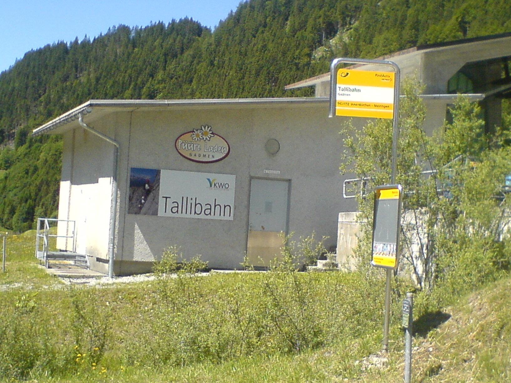 Tallibahn in der Schweiz