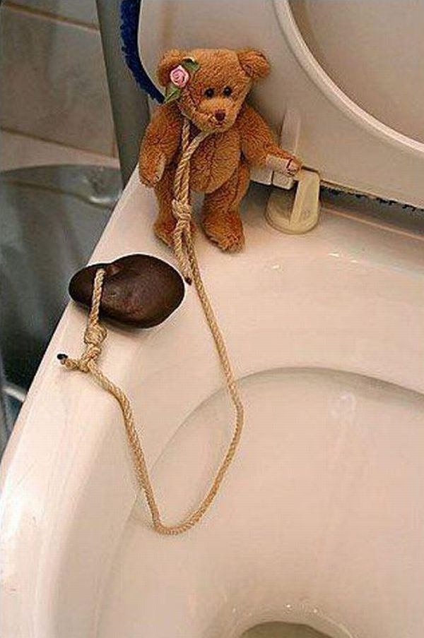 Teddybär will schluss machen