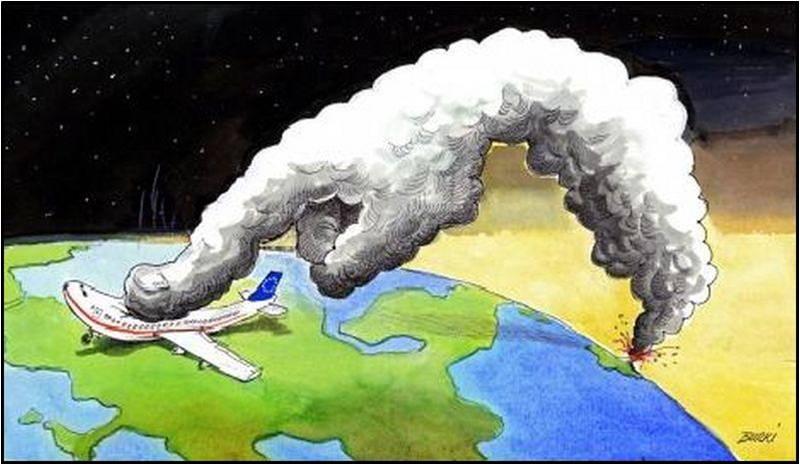 Flugverbot wegen Vulkanasche