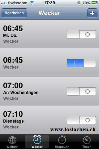iPhone Wecker Probleme