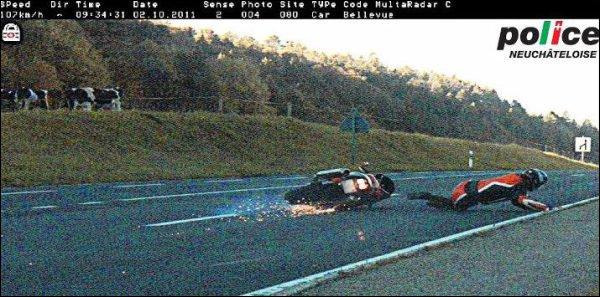 Töff-Fahrer rutscht durch Radarfalle