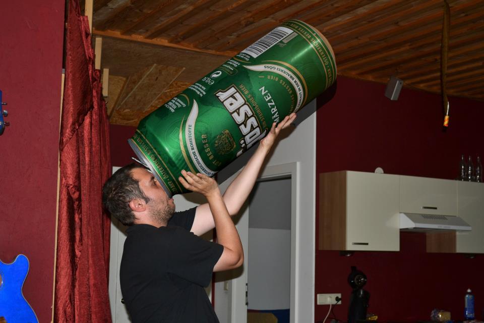 Achtung, nur ein Bier trinken