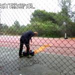 Verlassener Tennisplatz