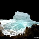 Aussicht vom Inneren der Höhle