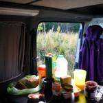 Frühstück im Camper