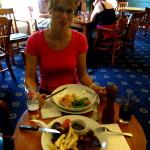 Erstes Abendessen in Schottand