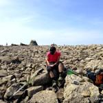 Logeintrag auf dem höchsten Berg Großbritanniens