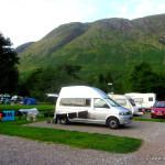Camping, geduscht und gewaschen