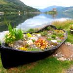 Boot mit Higlanderschloss
