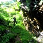 Abstieg zur Cave