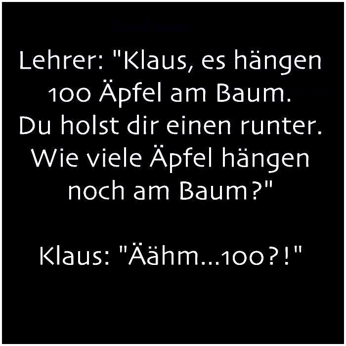 Klaus hat eine Antwort