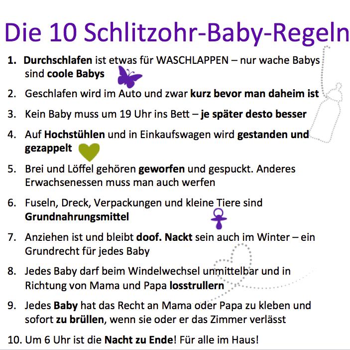 Unanfechtbare Baby-Regeln