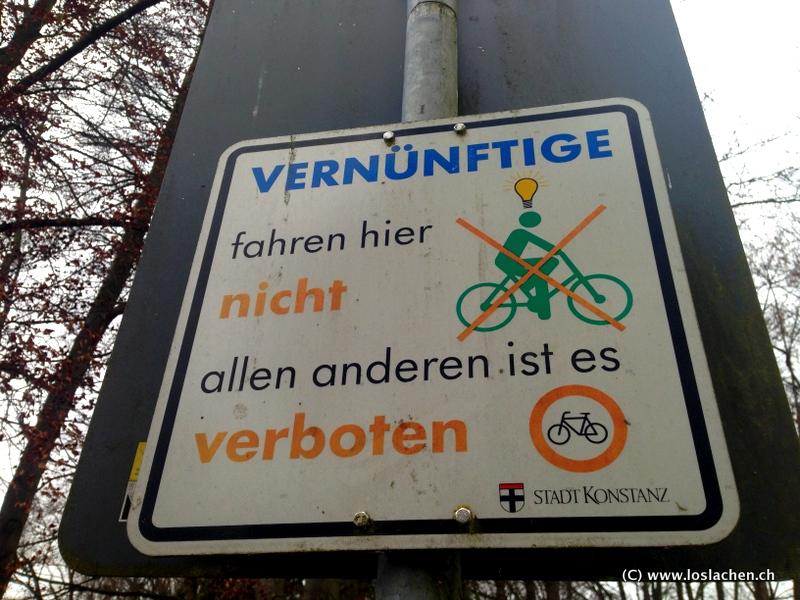 Komische Schilder in Konstanz