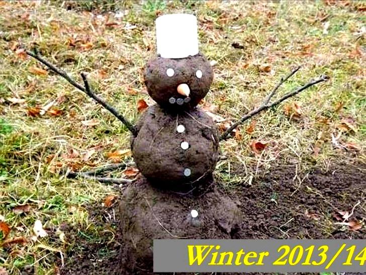 Aus Schneemann wird ein…