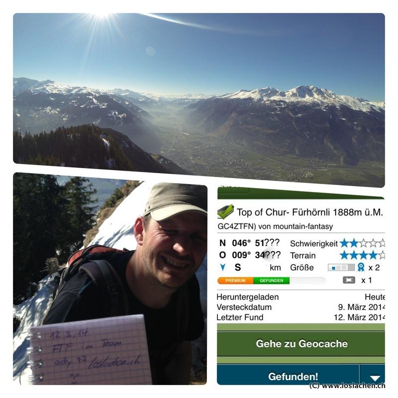 Geocache und Fürhörnli Top Of Chur