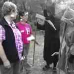 Knoblauch vs Sensenmann Frau