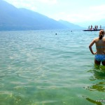 Camping Tenero Silvia geht baden