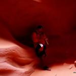 Indianer Mit Flöte Antelope Canyon