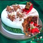 santa claus viel kuchen