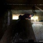 Sehr enger Bunkereingang