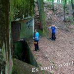 Der Eingang zum Bunker