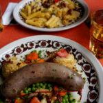 Essen im Restaurant Lägh da Cavloc