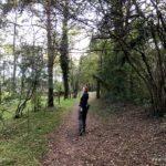 Silvia auf dem Trail