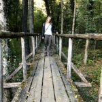 Silvia auf der Brücke