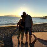 Renza mit Osvaldo vor dem Sonnenuntergang