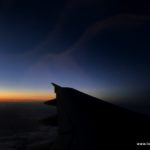 Sonnenuntergang im Flieger