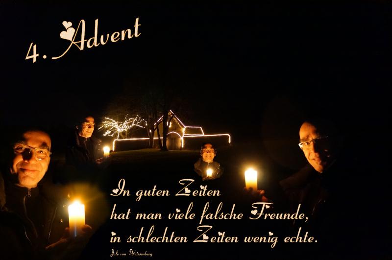 Advent, Advent, das vierte Lichtlein brennt