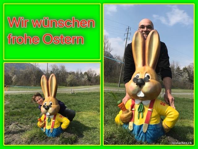 Frohe Ostern wünscht loslachen.ch
