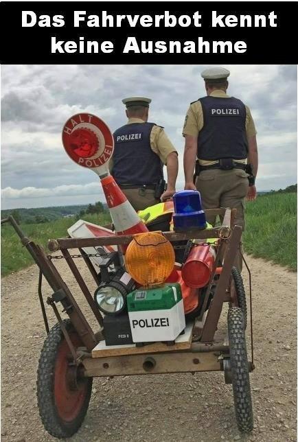 Fahrverbot auch für Polizei?