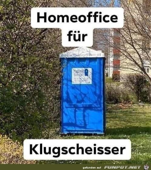 Home Office für Klugscheisser